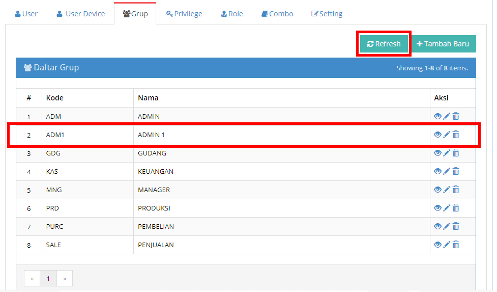 Edit Hak Akses Admin Beecloud