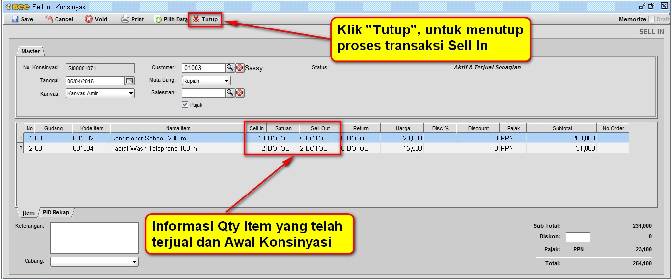 6.Sell In Form 2