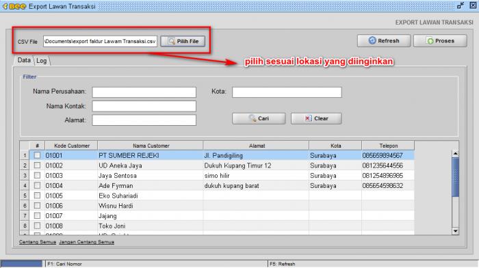 Gb 3. Direktori file CSV yang disimpan