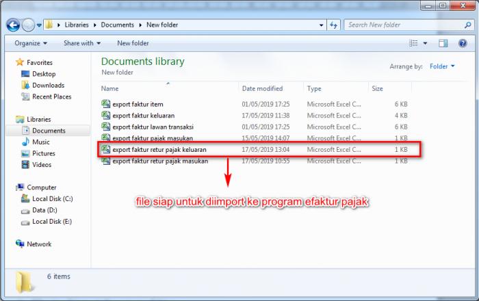 Gb 5. Hasil eskport file CSV