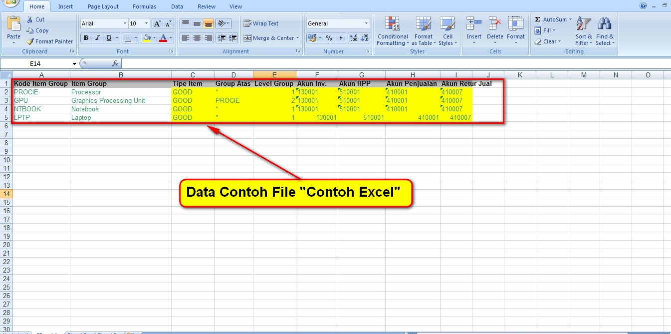2.Import Group Excel Contoh Isi