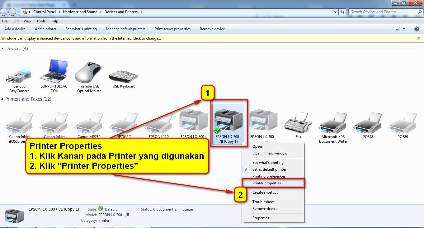 2.Printer Properties