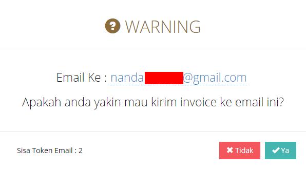 Gambar 5. Send Email Invoice
