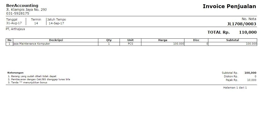 2. Invoice 2