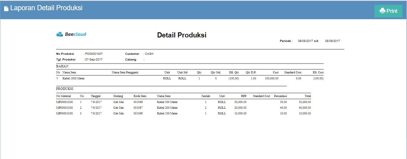 Gambar 11. Laporan Detail Produksi