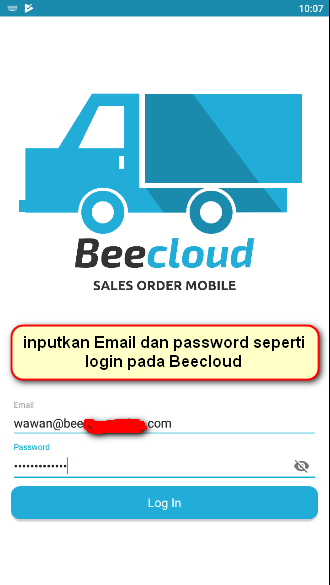 Gb 3. Masukkan email dan password