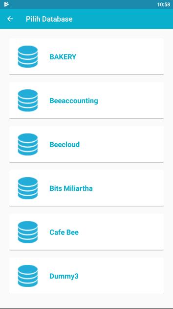 Gb 5. Pilih Database Perusahaan yang akan digunakan