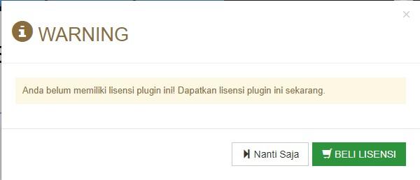 Gb 3. Notif lisensi plugin