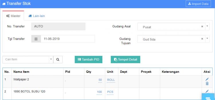 Gb 6. Tampilan SETELAH di validasi oleh user Pusat